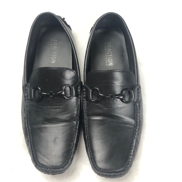 Kenneth Cole reaction men's Black loafers size 9.5